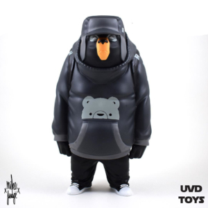 Kub Black and Grey vinyl art toy by Mike Fudge x UVD Toys.