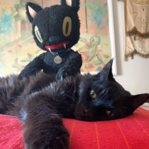 Blackie The Cat Plush by Gary Baseman