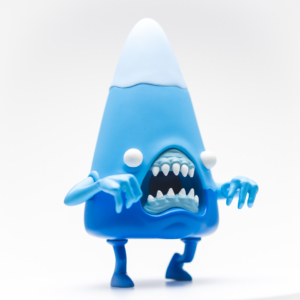 Tenacious Toys Exclusive Candy Cornelius Giant Shark Ed. vinyl art toy by Alex Pardee x 3DRetro